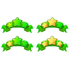 level complete ranking banners with stars vector image