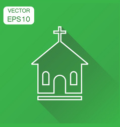 line church sanctuary icon business concept vector image