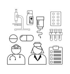 line medical icon vector image