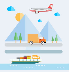 logistic delivery icon vector image