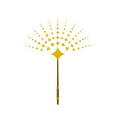 Magic wand with sun shaped stars vector