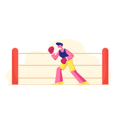 male character professional sportsman boxer or vector image