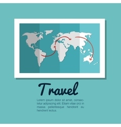 map world globe travel design vector image