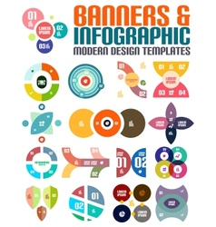 Modern geometrical abstract infographic templates vector