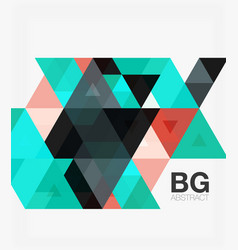 Modern geometry background vector