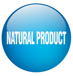 Natural product blue round gel isolated push vector