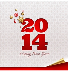 New 2014 year holidays design vector image vector image