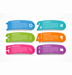 options infographics template with numbers option vector image