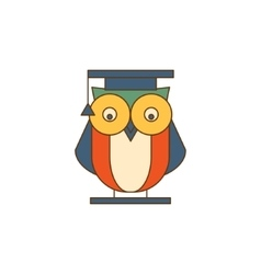 Owl in mantle logo vector