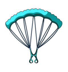 Parachutingextreme sport single icon in cartoon vector