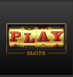 play slot machine casino banner design element vector image