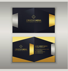 Premium luxury business card design template vector
