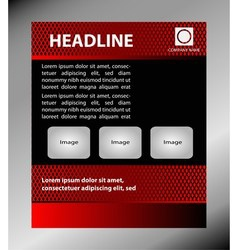 Professional business flyer template vector