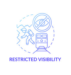 Restricted visibility concept icon vector