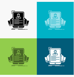 resume employee hiring hr profile icon over vector image