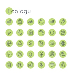 Round Ecology Icons vector image