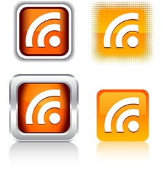 Rss icons vector