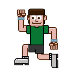 Runner happy men vector