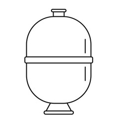 Sand filter pump pool icon outline style vector