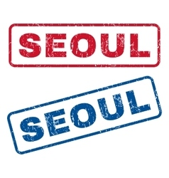Seoul Rubber Stamps vector