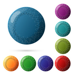 set beautiful multicolored buttons for your vector image