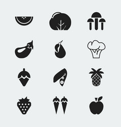 Set of 12 editable dessert icons includes symbols vector