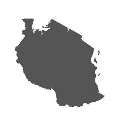 tanzania map black icon on white background vector image vector image