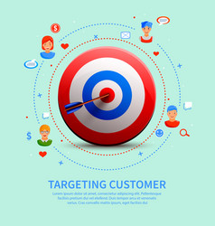 targeting customer round composition vector image