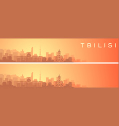 Tbilisi beautiful skyline scenery banner vector