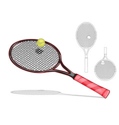 tennis racket set vector image