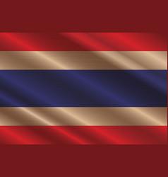 Thailand flag in art design 5 vector