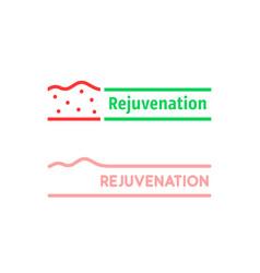 thin line set rejuvenation logo vector image