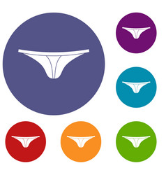 Thongs icons set vector