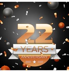 Twenty two years anniversary celebration vector image