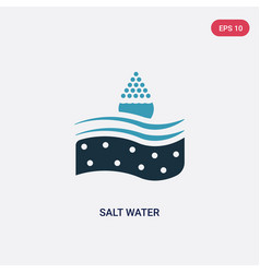 Two color salt water icon from nautical concept vector