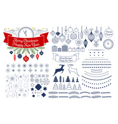universal mega collection of christmas vector image