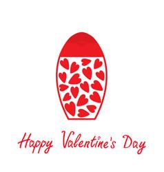 valentines day symbol love card tube of cream vector image