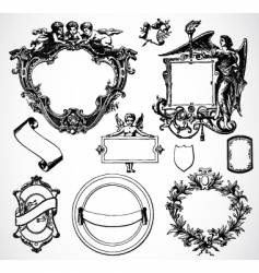 Victorian ornament set vector
