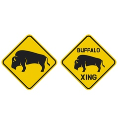 warning buffalo sign vector image