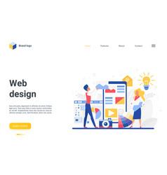 web design teamwork landing page designer team vector image