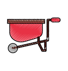 Wheelbarrow farm isolated icon vector