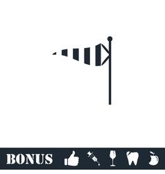 Wind sock icon flat vector