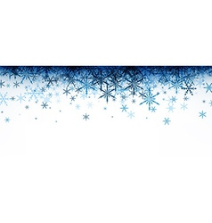 Winter banner with blue snowflakes vector image