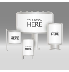 Blank sign boards vector image