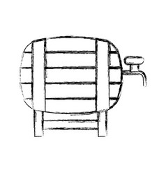 fresh beer in barrel isolated icon vector image