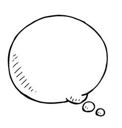 Hand drawn speech bubble doodle vector image