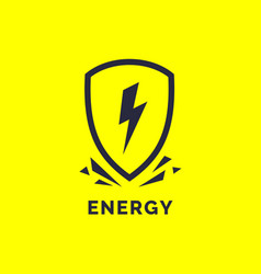 modern minimalistic logo energy the lightning vector image