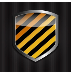 Protect Shield on Black Background vector image vector image