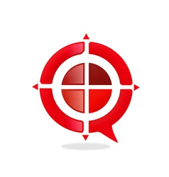 Red target game abstract logo vector