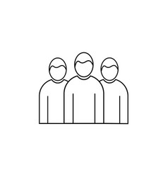 team group linear icon vector image